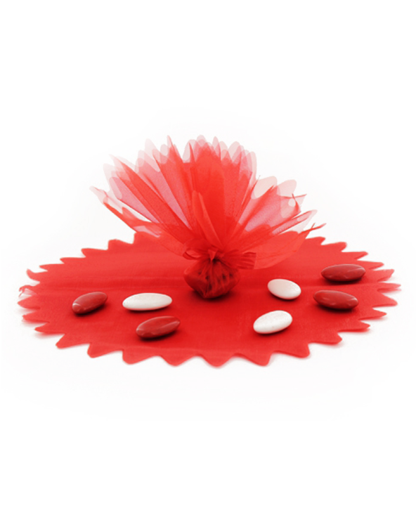 Tulle cristal rouge