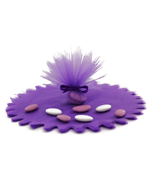 Tulle cristal violet