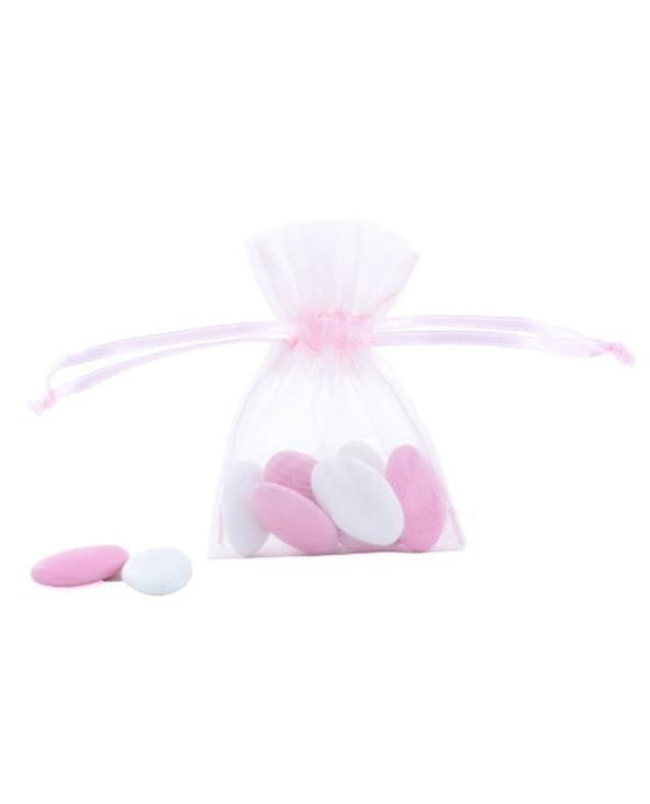 Pochette organza rose