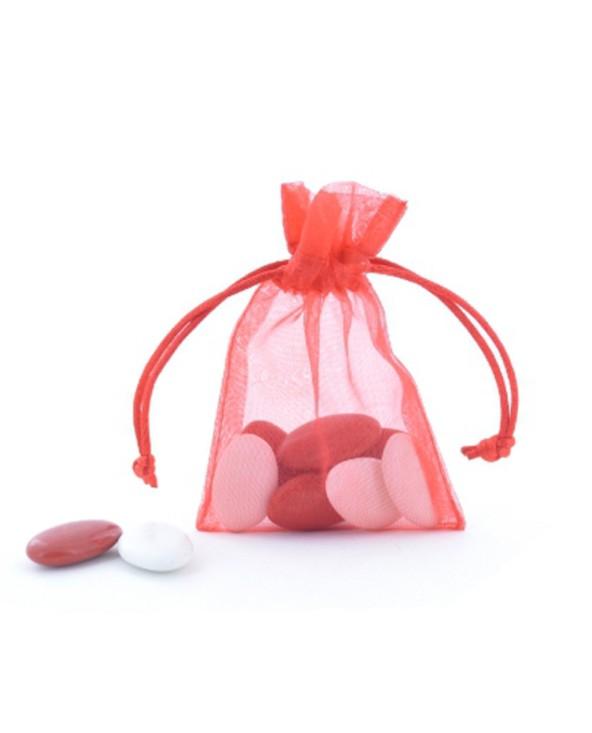 Pochette organza rouge