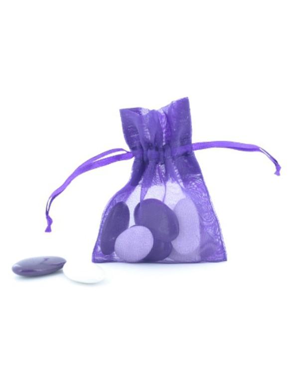Pochette organza violet