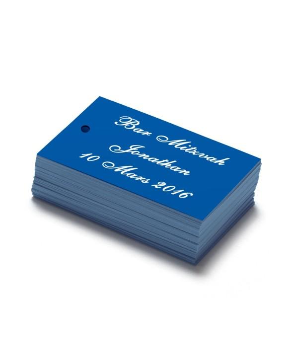 Étiquettes personnalisables bleu