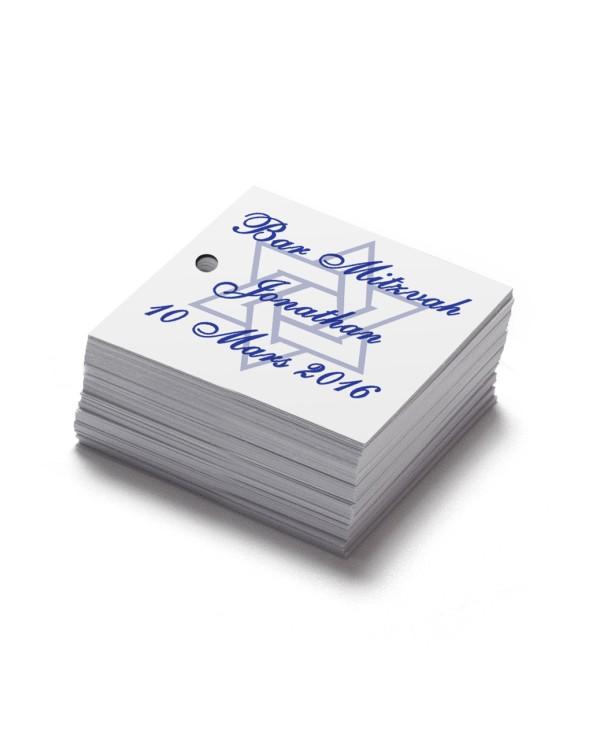 Étiquettes carrés personnalisables Magen
