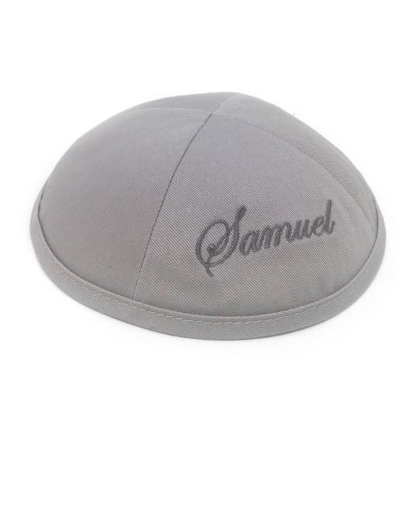 Kippa coton gris 1er prix