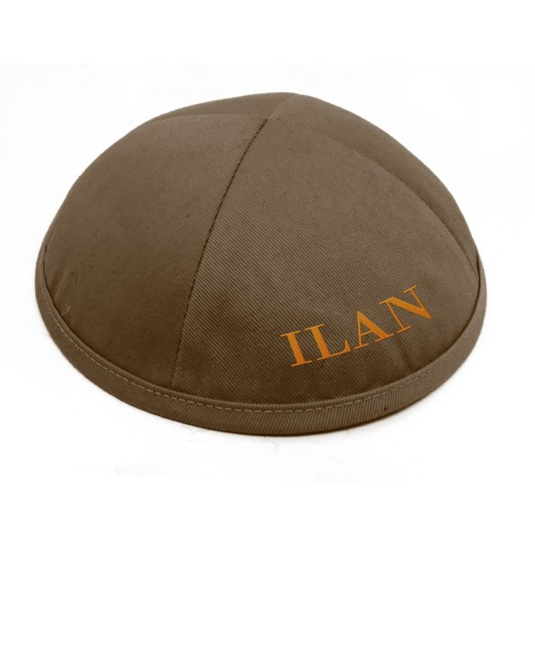 Kippa coton marron 1er prix